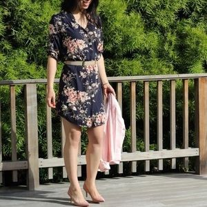41 Hawthorn floral shirt dress